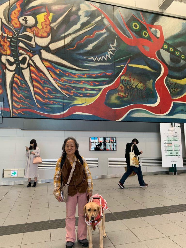 【写真】岡本太郎壁画 井の頭線渋谷駅にて