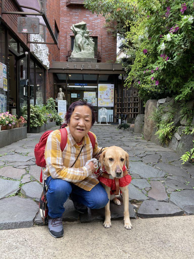【写真】竹久夢二美術館入口にて